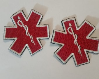 Medic Alert - Embroidered Iron On Patches