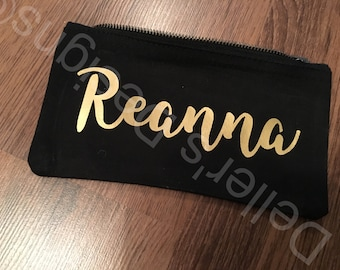 Personalised pencil case / small make up bag