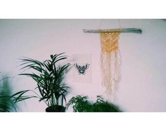 DONATION Macrame sea rope upcycled boho wall decor