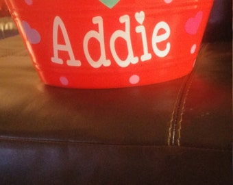 Personalized Valentines Buckets