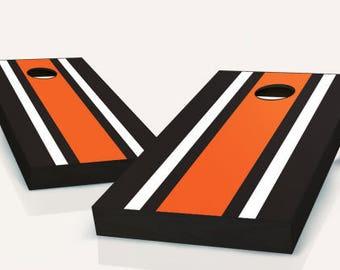 Striped Cornhole Boards