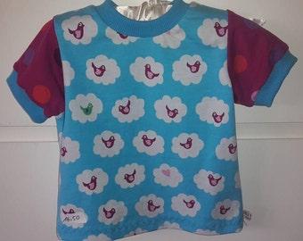 "Cute T-Shirt ""Birdie"" Gr. 74/80"