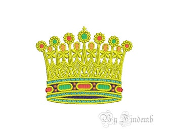 Crown Embroidery Designs 1 size Instant Download