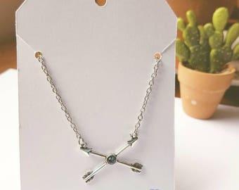 Follow Your Arrow Necklace. Double Arrow Necklace. Boho Necklace, Arrow Jewelry