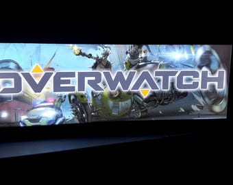 Overwatch Arcade Style Marquee Light Box