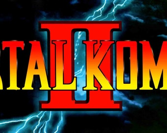 Mortal Kombat 2 Arcade Style Marquee Light Box