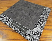 One Off EDC Hank Skull Tattoo Bandana Fabric Handmade Hank Everyday Carry Pocket Dump Hank Mens Handkerchief Gift for Him