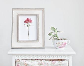 Flower watercolor illustration - handmade