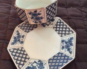 Otagiri bowl with saucer