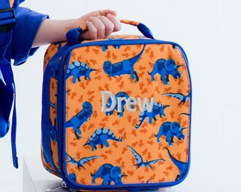 Monogrammed Dinosaur Dino-Mite Lunch Bag Kids Back to School