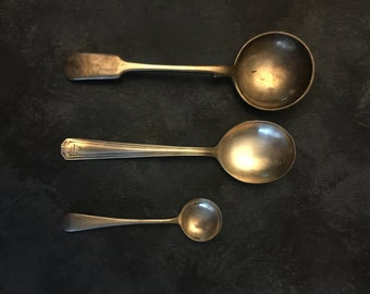 vintage spoons, food photography prop, food styling prop