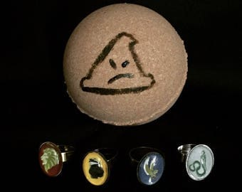 Wizard Sorting Hat Bath Bomb with Ring