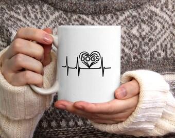 Cats heartbeat mug