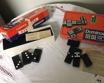 Vintage wooden dominos