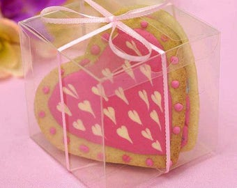 Clear favor box Etsy