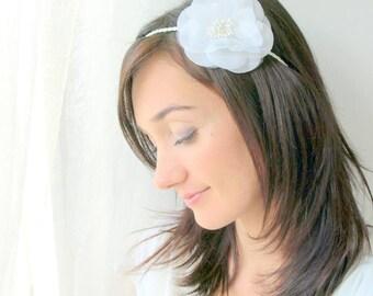 Wedding hair accessory, bridal hair accessory, white flower headpiece, bridal headpiece, bridal tiara, bridal headband, wedding headband