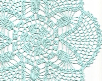 Vintage Handmade Crochet Doily Lace Lacy Doilies Wedding Decoration Home Decor Flower Mandala Dream Catcher Crocheted Round Sky Blue