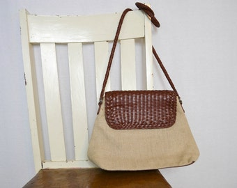 Vintage Fossil Purse With Weave Detail
