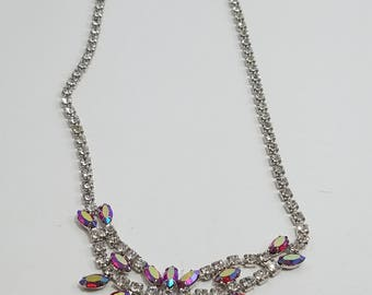 Gorgeous Red AB Crystal Rhinestone Necklace