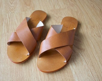 Handmade Leather Sandals, Tan Leather Sandals, Womens Sandals, Womens Shoes, Sandals, Tan Sandals