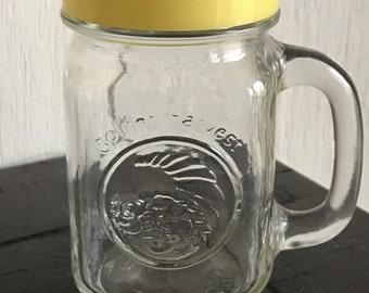 Vintage Golden Harvest Mini Drinking jar