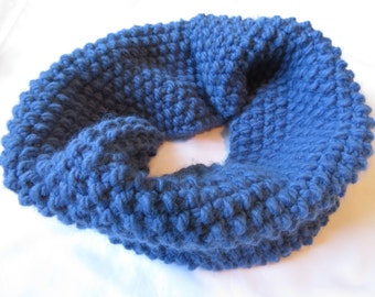 DenimBlue*Knit*SuperBulky*Cowl
