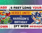 Rescue Bots Banner, Rescue Bots Birthday, Rescue Bots party, Rescue Bots decorations, Rescue Bots theme,Birthday banner,party banner