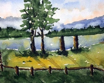 Ellacoya State Park NH (Original Watercolor Painting)