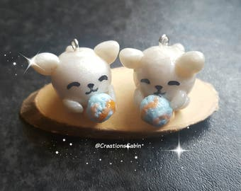 Chubby cat charms, polymer clay charms, cat charms, polymer clay cat, kitten charm, cat eating icecream charms