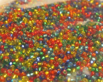 Glass Seed Beads, Size 11, mixed colors