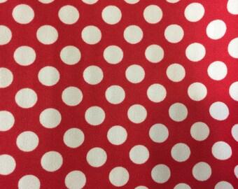 Red Poka Dot Fabric Lined w/ Vinyl