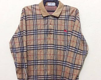 RARE !! vintage burberry long sleeve shirt