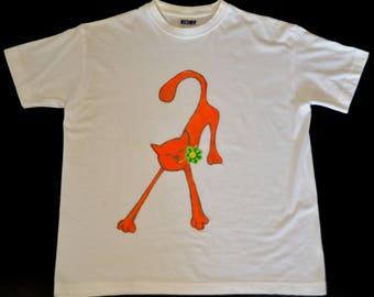 Hand painted T-Shirt Cat