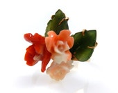 Sprig of Coral Roses and ...