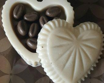 Coffee Bean Massage Soap Heart