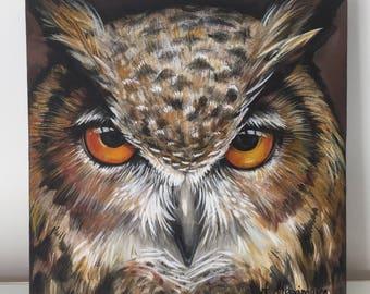 Owl Painting - Acrylic Painting - Original Painting