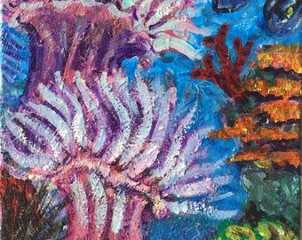 Coral reef art! Undersea life, anenomes, urchins, coral!