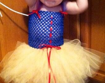 Show White Baby girl handmade Tutu dress costume