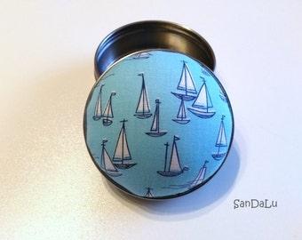 Sailboat - Pincushion, needle box