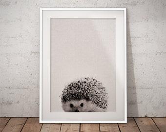 Hedgehog, Woodland Nursery, Print Set Woodland, Forest Animals, Woodland Creatures, Forest Nursery Print, Black And White Nursery,