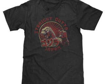 Godzilla Straight Outta Japan Shirt (Licensed) Available in Adult & Youth Sizes