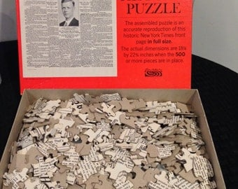 Vintage 1967 Parker Brothers Historic Puzzle - The New York Times