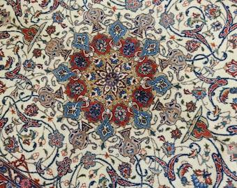 Very old persian sarouk rug 6.6 × 4.8 ft 198 × 141 cm