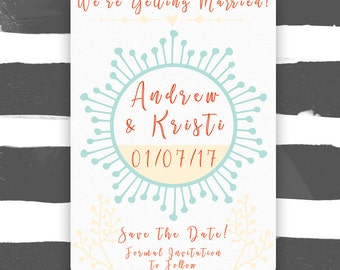 Save the Date, Customizable and Printable
