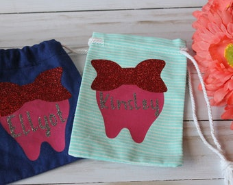 bags, small bags, tooth fairy bags