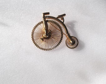 Vintage Penny Farthing Bicycle Brooch