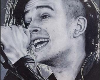 Custom Portrait, hand drawn, marker, pencil, black & white, photo realistic