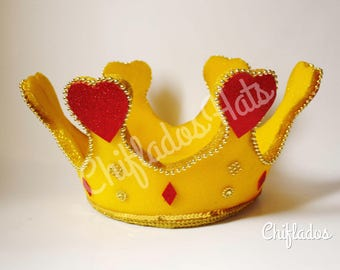 Alice in Wonderland Queen of Hearts Crown Headpiece Party Hat