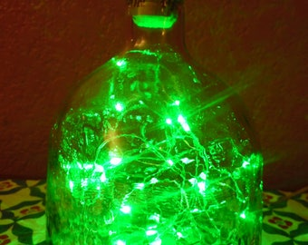 Up-cycled Patron Bottle Lamp