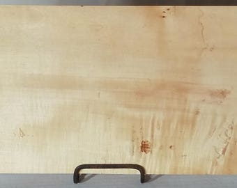 "12 3/4"" x 7 1/4"" x 3/4"" Maple Plank, Wood, Lumber, Slab"